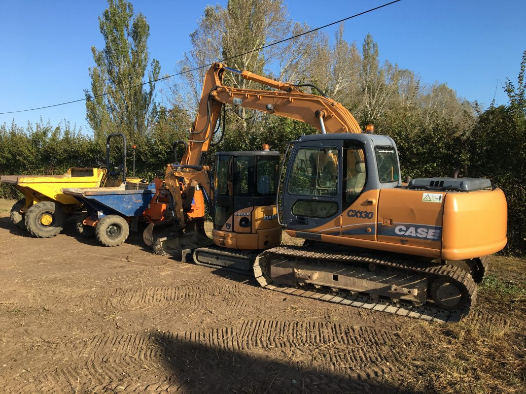 Finch Services diggers and dumper trucks