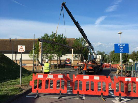 Remove road barrier, Copdock Intersection, Ipswich