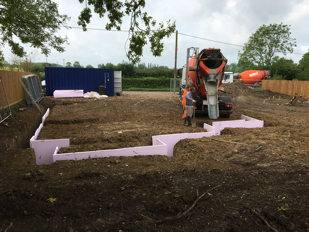 Foundations requiring claymaster heave board