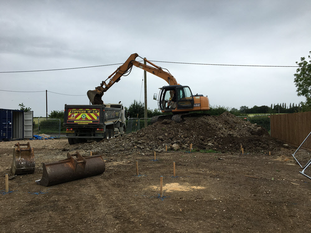 Clear site & full groundworks, Coton