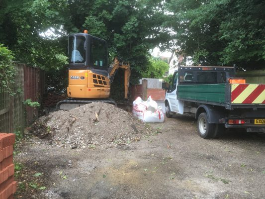 Site clearing and groundworks, Claydon