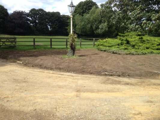 Backfill trenches & landscape, Coney Weston