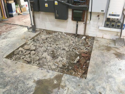 diamond cut concrete floor, Bury St Edmunds