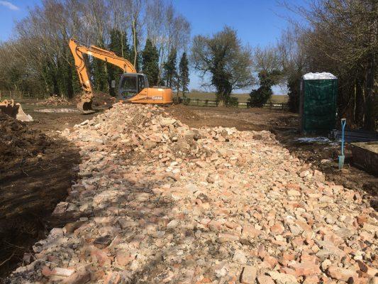 Dispose of demolition waste, Haverhill