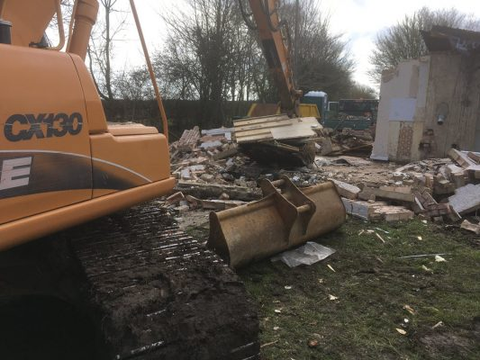 Demolish bungalow, Remove asbestos, Haverhill
