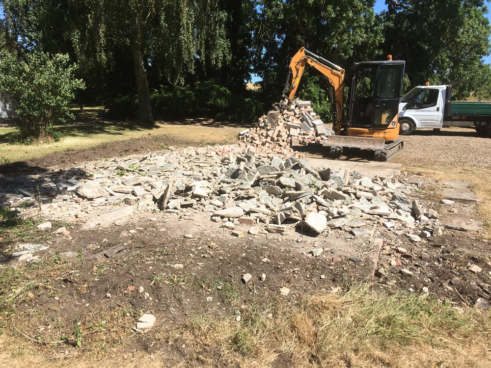demolish garage, Icklingham