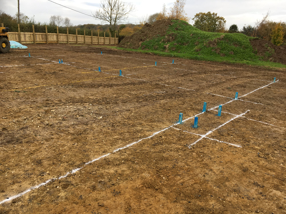 Clear site & foundations for 3 new houses, Kirtling