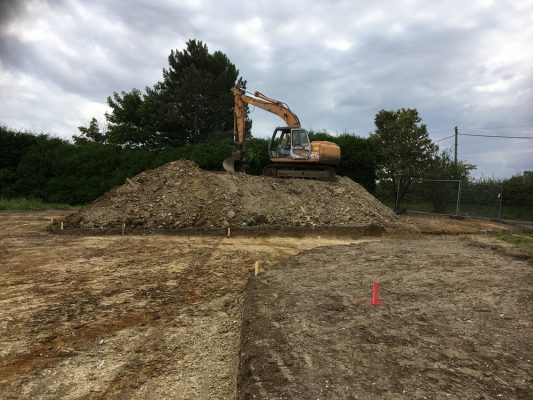 Clear & excavate site for foundations for 3 new houses, Kirtling