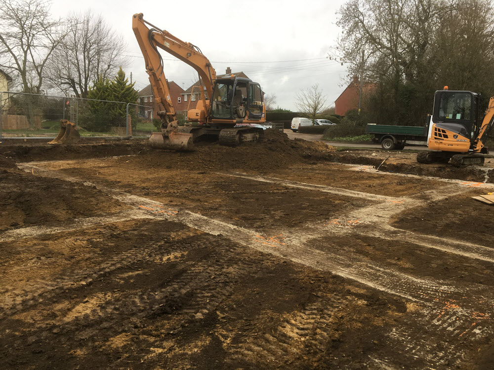 Groundworks to DPC, Coton, Suffolk