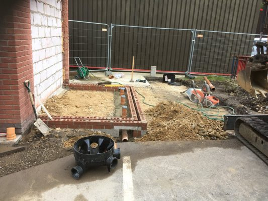 groundworks package for factory toilet extension up to DPC, Newmarket