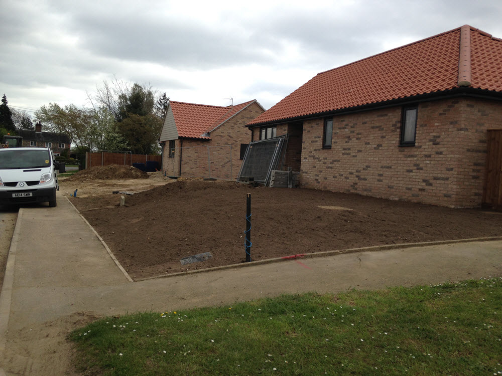 Landscaping groundworks, Risby