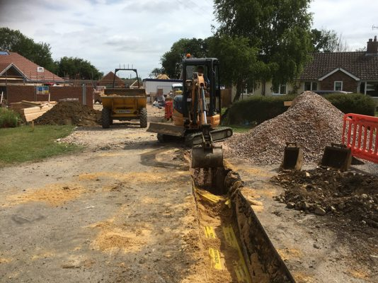 full groundworks package, Rougham