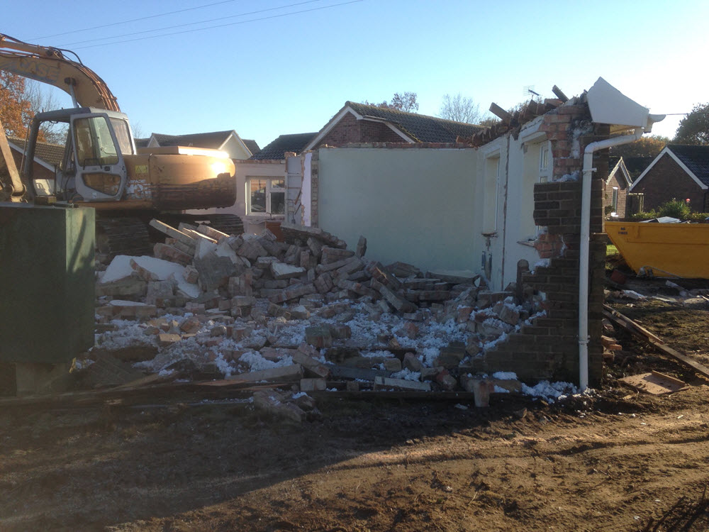 demolish bungalow, Rougham