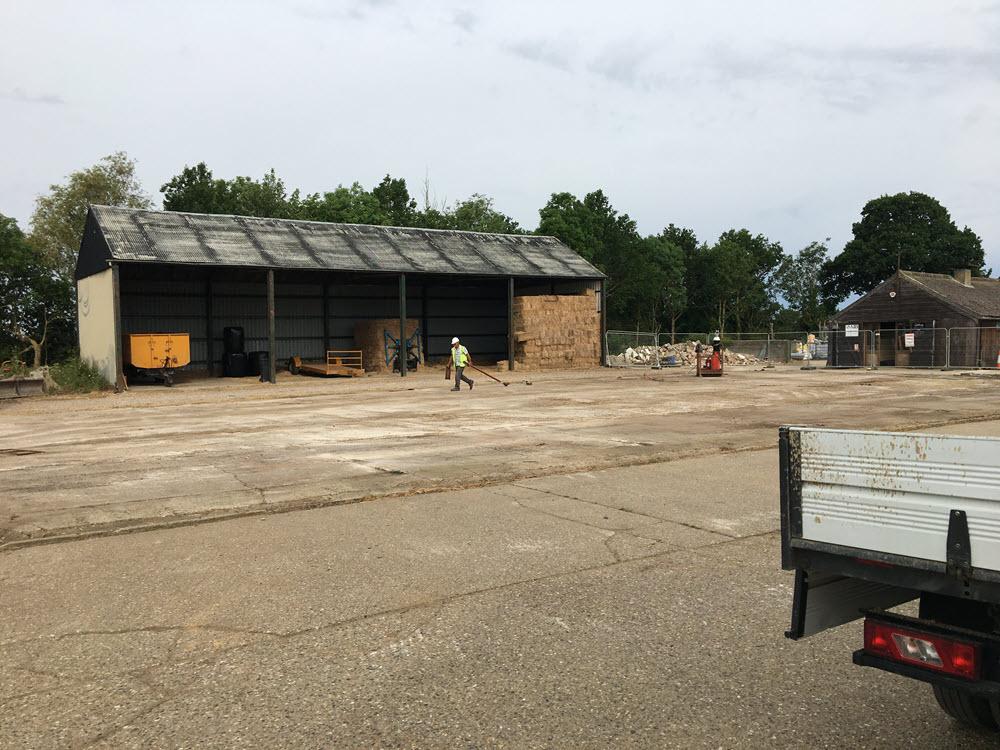 Demolition of Dutch Barn Westhorpe