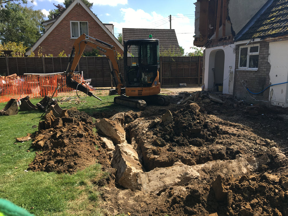 Groundworks Package to DPC Wetherden